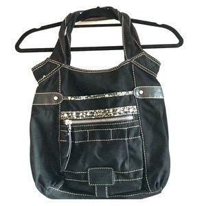 Fossil black fabric bag nice!